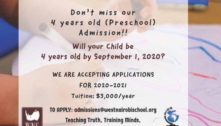 Preschool Special Offer 2020 -2021 School Year for K4